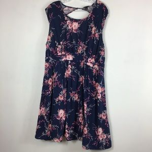Torrid floral open back dress plus size